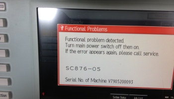 Lỗi SC 819 của máy photocopy Ricoh MP 4001 | Hỏi Đáp Về Lỗi