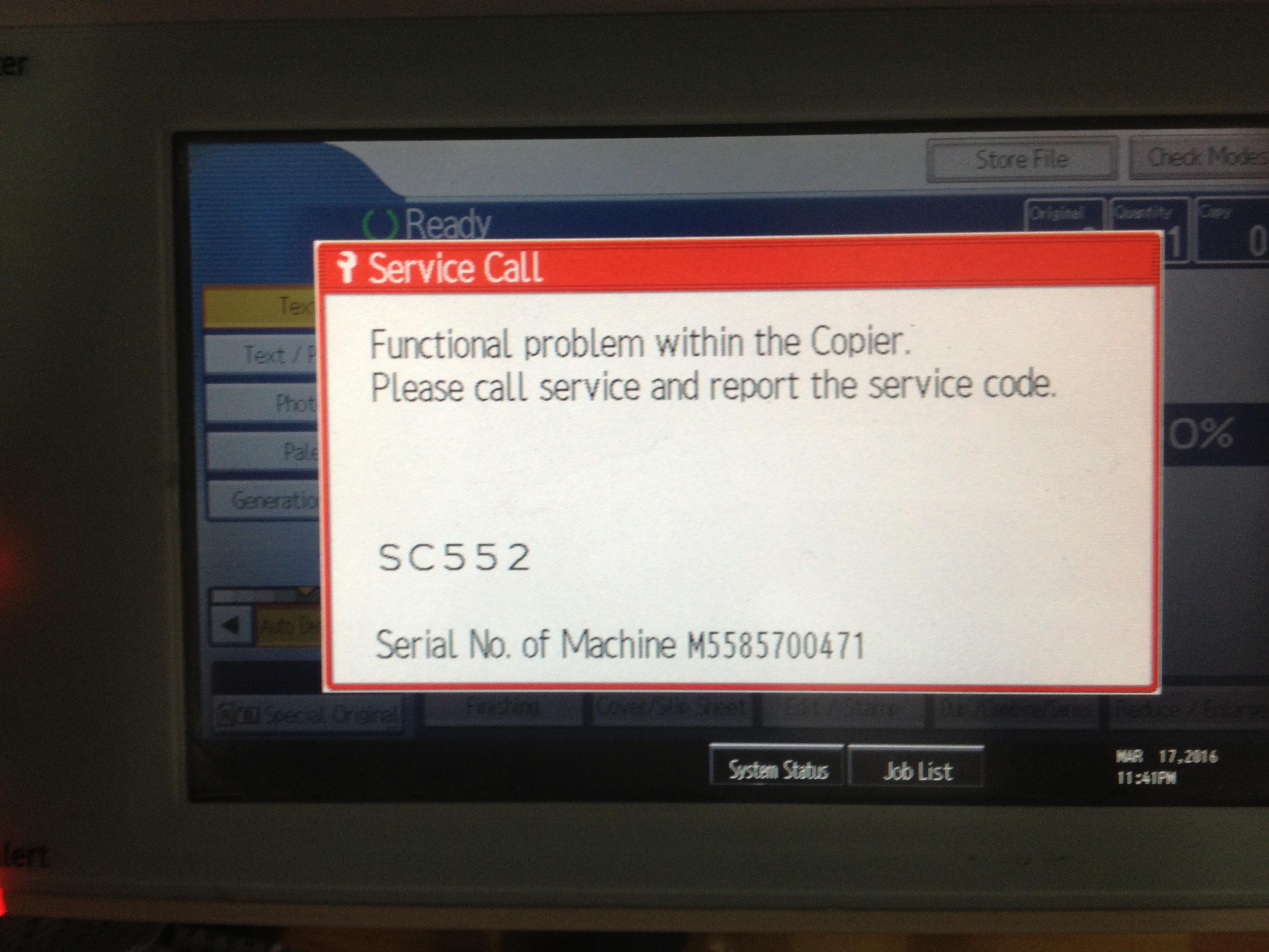 Hướng dẫn cách sửa lỗi SC 552 máy photocopy Ricoh | Hỏi Đáp